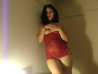Indian Wife In Red Lingerie Hot Sex MMS