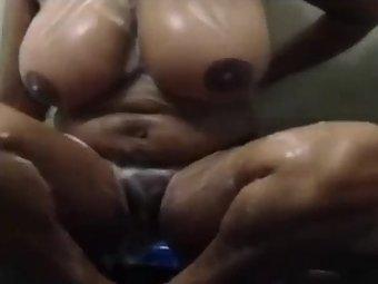 Indian Aunty In Shower Masturbation Sex