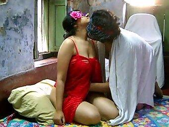 Savita bhabhi fucked hard by ashok in red lingerie